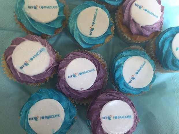 BT & Barclays cakes