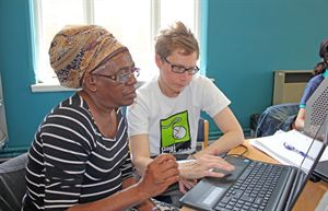Participants in the Lambeth Digi-buddies scheme.
